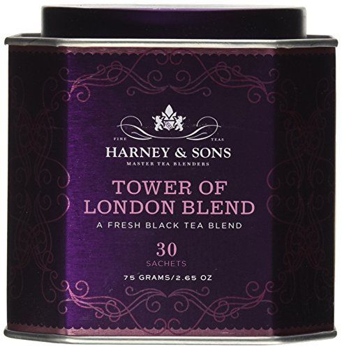 Harney and Sons Tower of London, Flavored Black 30 Sachets per Tin - http://teacoffeestore.com/harney-and-sons-tower-of-london-flavored-black-30-sachets-per-tin/