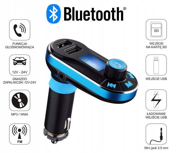 Transmiter samochodowy na idealny prezent   Bluetooth, Usb