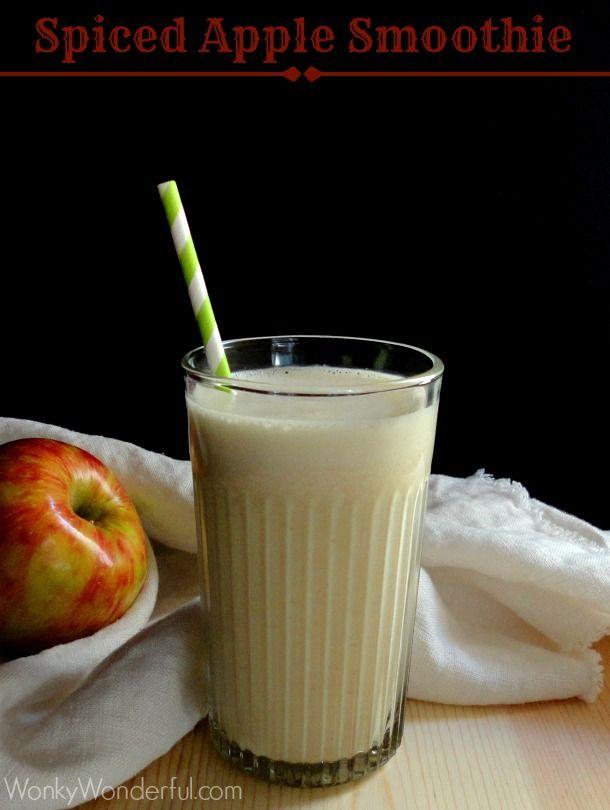 Spiced Apple Healthy Smoothie Recipe ::: wonkywonderful.com #healthy #smoothie