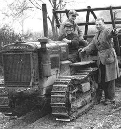 Managing men working on Frances Donaldson's wartime farm. WWII