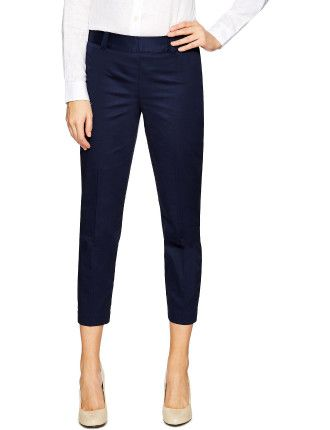 CROPPED SIDE ZIP PANT