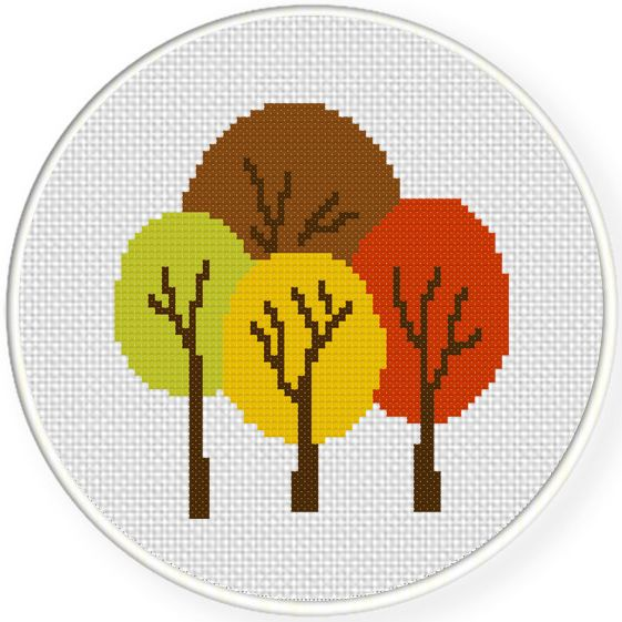 FREE for Oct 5th 2015 Only - Wonderful Autumn Forest Cross Stitch Pattern