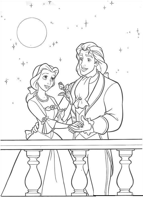 beauty and the beast, site has lots of coloring pages
