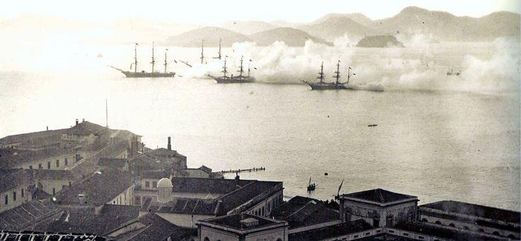 Treino da armada brasileira 1870. http://upload.wikimedia.org/wikipedia/commons/8/8e/Treino_da_armada_brasileira_1870.jpg