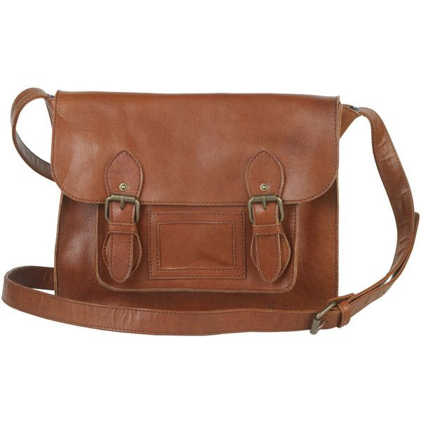 Fat Face Leather School Satchel ($52) ❤ liked on Polyvore featuring bags, handbags, purses, accessories, bolsas, bolsos, leather crossbody purse, leather purses, leather crossbody handbags and brown leather satchel