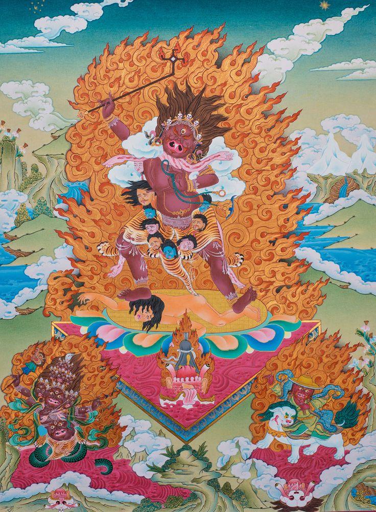 100 best buddhist art images on pinterest buddha art buddhism a combination of the three nyingma protectors ekajati main with rahula fandeluxe Images
