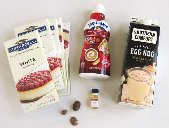 Eggnog Fudge Recipe With Images Eggnog Fudge Fudge Easy