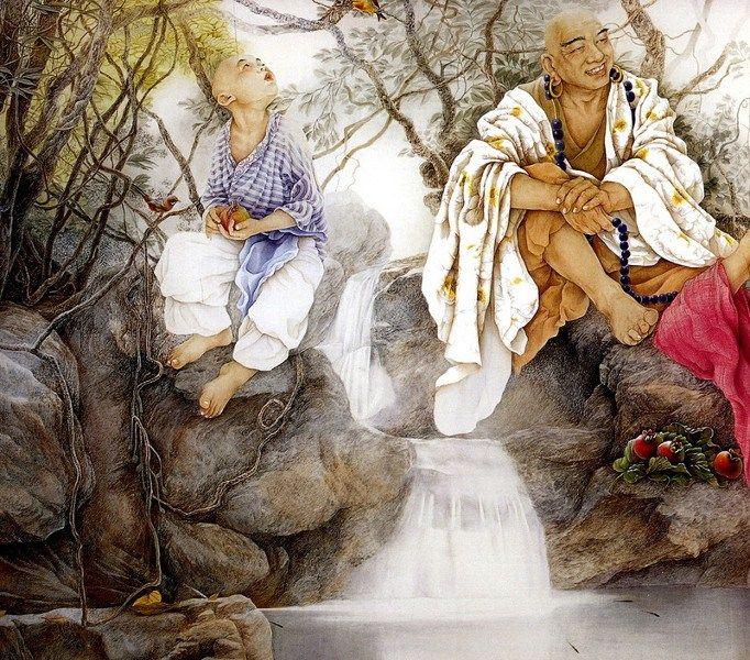Pintura da artista chinesa Ji Shuwen.