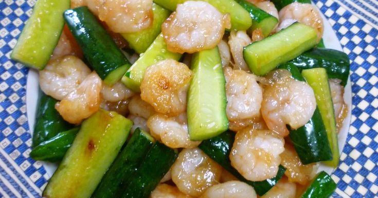 中国人ちのえびときゅうりの塩味炒め by ベル★ [クックパッド] 簡単おいしいみんなのレシピが253万品