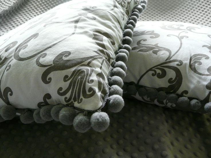 Double sided throw pillows with cotton balls