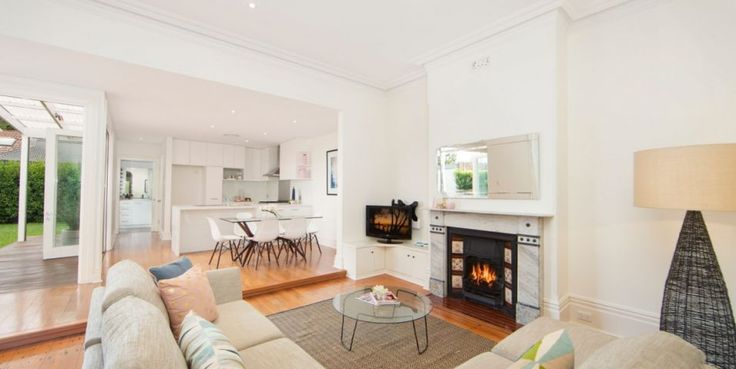 Beautifully renovated, sunny garden, facade, Victorian freestanding residence, original detail, north east aspect, large living area, gas fireplace, original fireplace