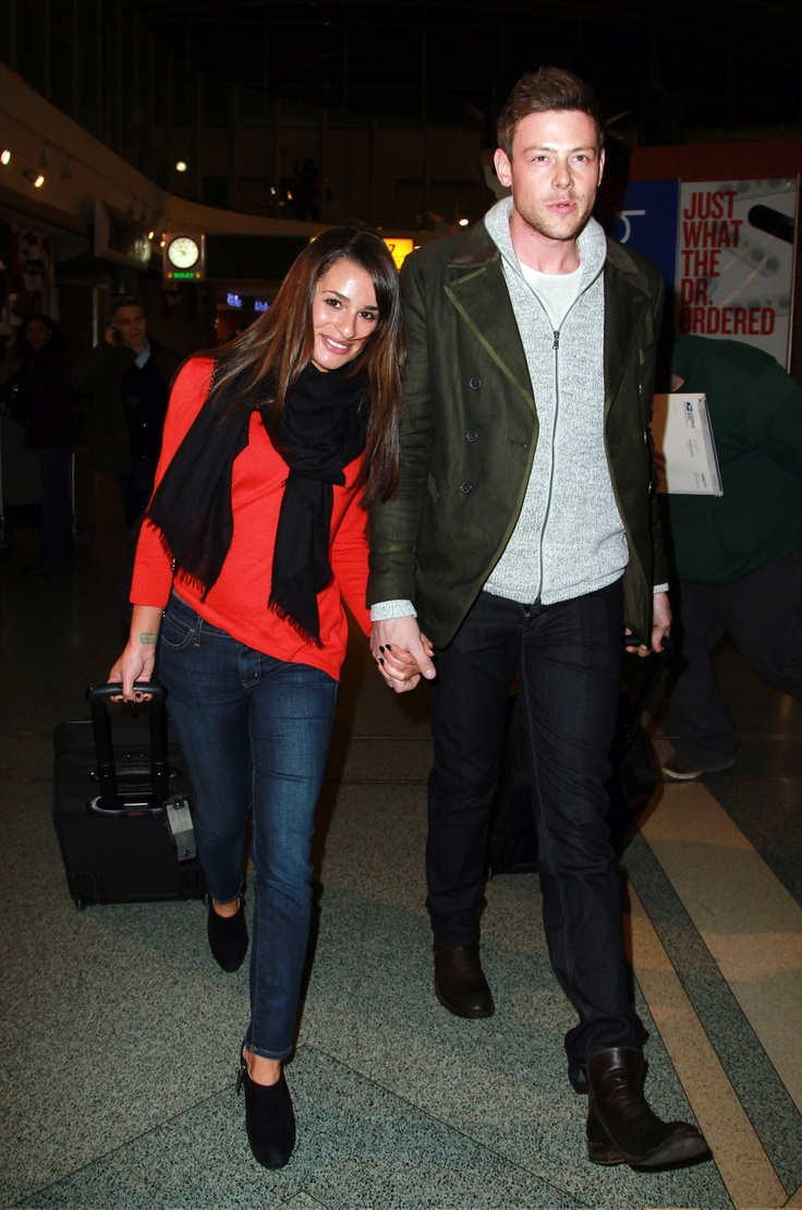 Lea Michele and Cory Monteith Land in NYC Hand in Hand | Pictures