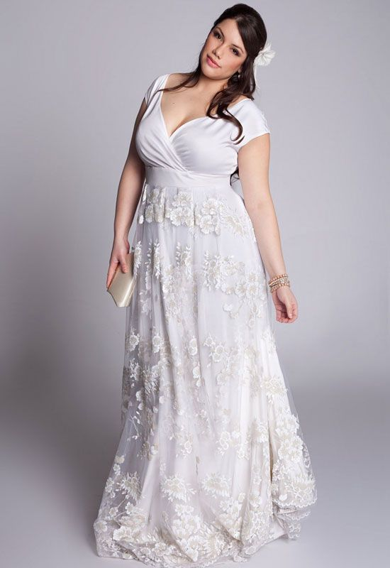 Plus Size Modern Vintage Wedding Dresses  Would be cute in a different color to wear on other occasions too! I LOVE this.