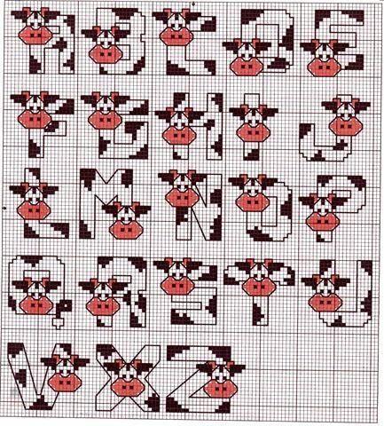 alphabet vache