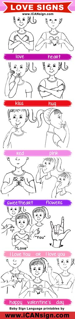 This Valentine's Day use these basic ASL signs for Love! Learn American Sign Language!