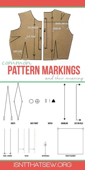 Common Pattern Markings and their meaning | www.isntthatsew.org