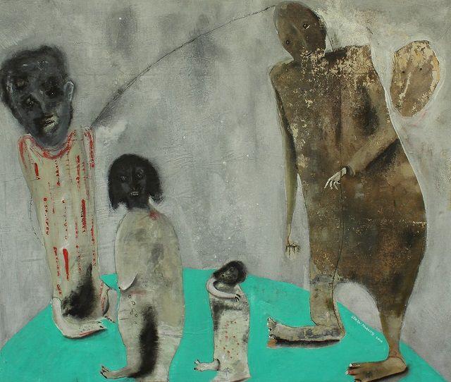 """""""Figurative at the Frontier"""" por Shabu Mwangi. Arte contemporaneo. Pintura africana contemporanea, #iconocero"""