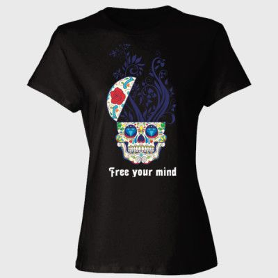 Free your mind sugar skull