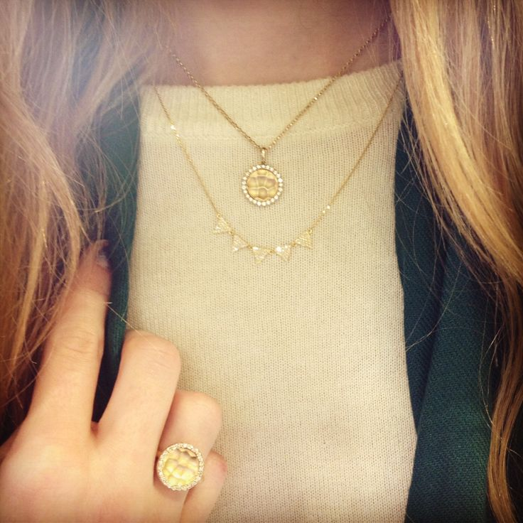 Diamonds & gold go with everything perfectly!