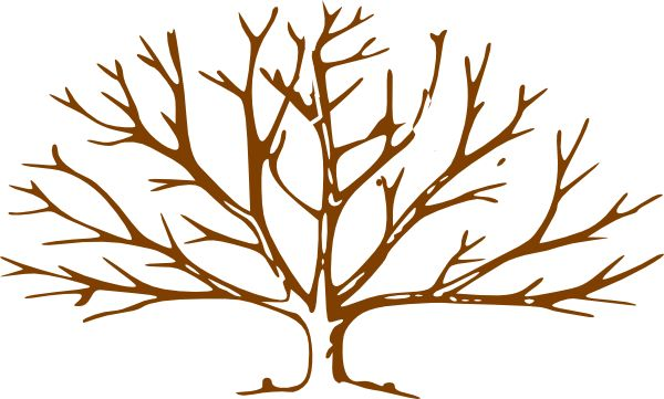 Bare Tree Trunk Clipart | Tree outline, Bare tree, Family ...