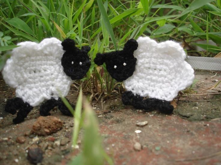 Sheep applique by Pradeepa | Crocheting Pattern te betalen, maar na te maken