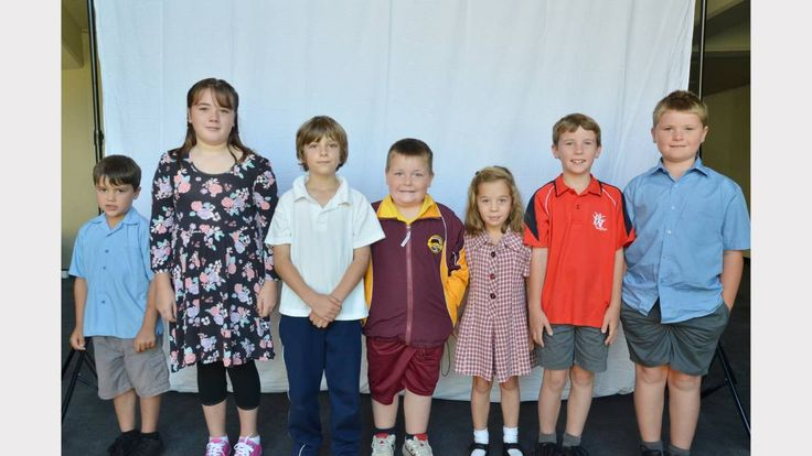 Merit: Tom McCullagh, of Riverside Primary School, Gabrielle Duncan and Noah Curtis, both of Westbury Primary School, Brady Banfield and Erin Mackenzie, both of Bracknell Primary School, and Joshua Belbin, of Youngtown Primary School.