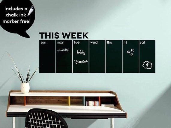 Доске наклейки на стены еженедельный календарь   на этой неделе доске календарь декора дома стикера стены купить на AliExpress