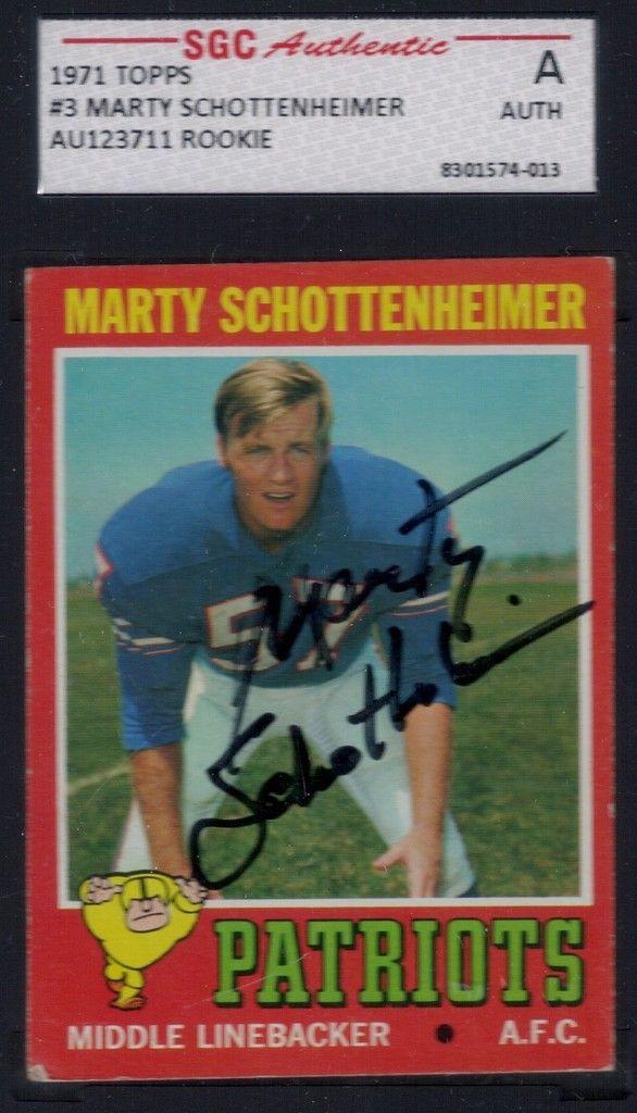 1971 Topps Marty Schottenheimer (RC) autograph