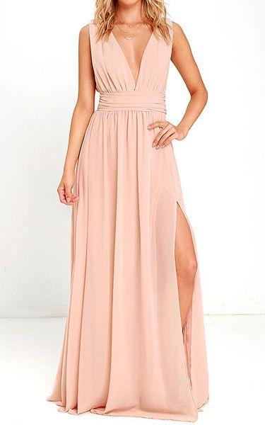 Heavenly Hues Blush Maxi Dress via @bestchicfashion