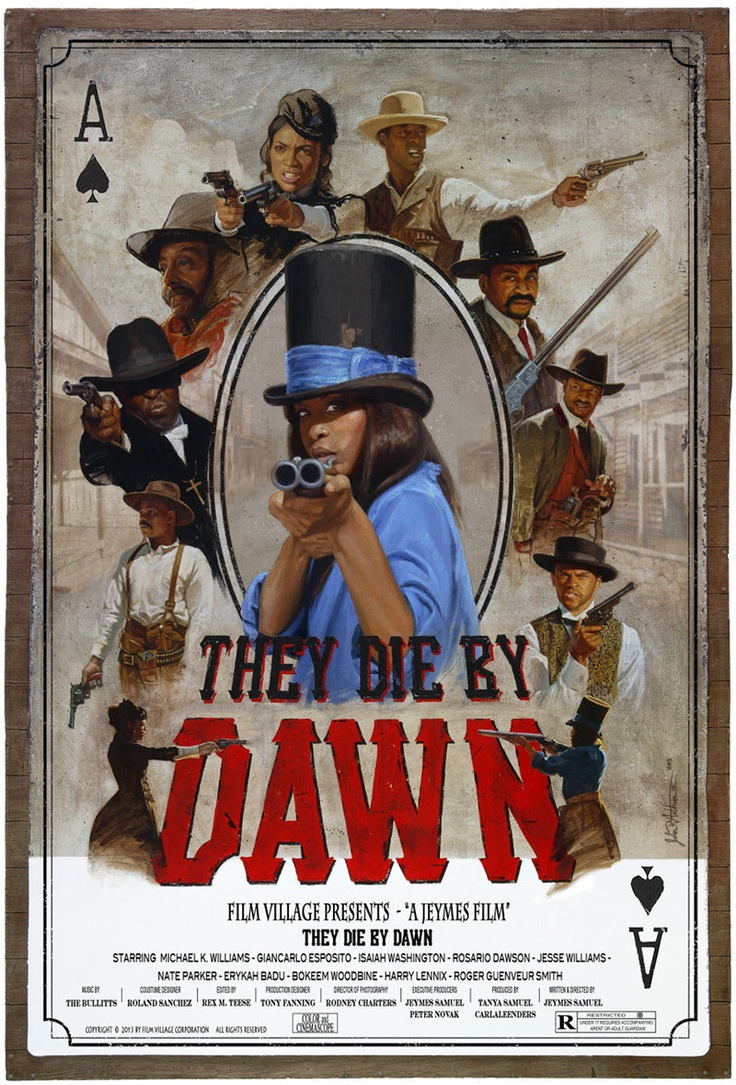 I love a good western movie. African-Americans were very instrumental in Western  History....Artist Jules Arthur Shares The Story Behind the Artwork for 'They Die By Dawn' Cowboy Epic - AFRO-PUNK