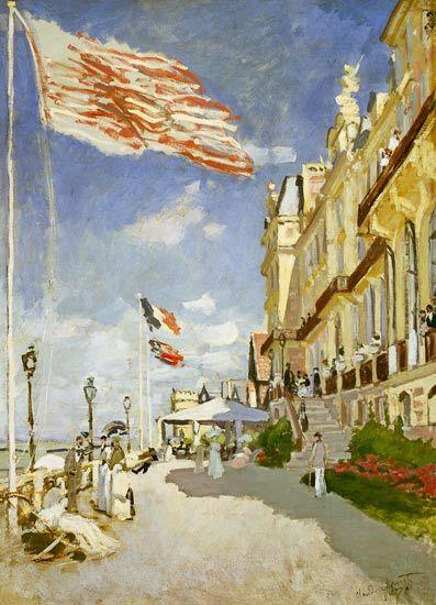 Hotel des roches noires, Trouville, Claude Monet, 1870 IMPRESIONISMO