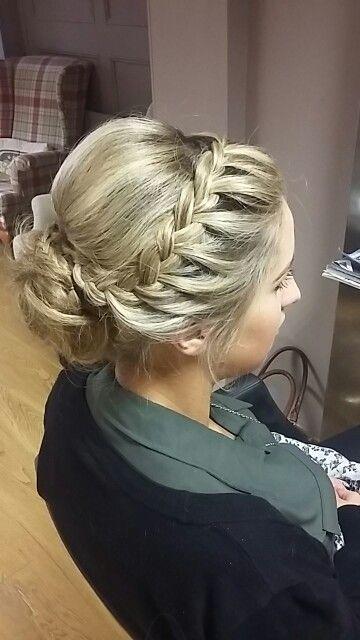 Braid upstyle  Hair  Simple bridesmaid hair Bridesmaid hair Hair upstyles