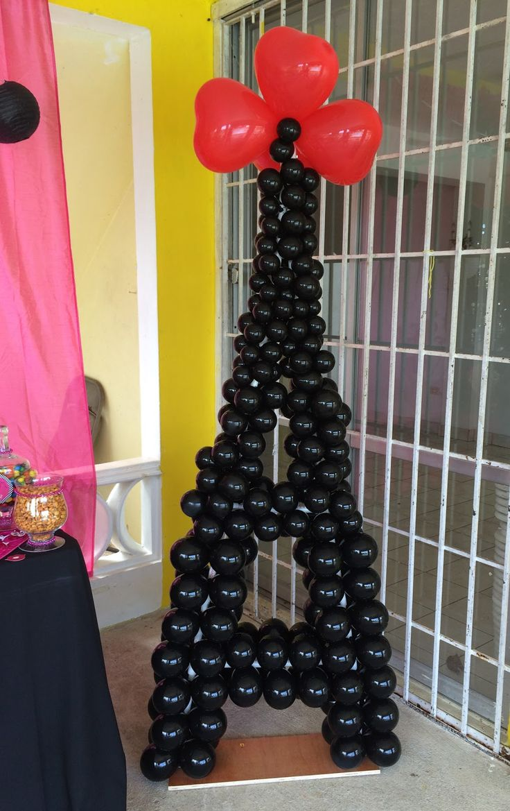 My little cousin just turned 11 and her birthday theme party was Paris!   On this post I share with you how I made a ballon Eiffel To...