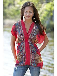 body central clothing | PAISLEY CHIFFON TUNIC $19.50 http://www.bodyc.com/