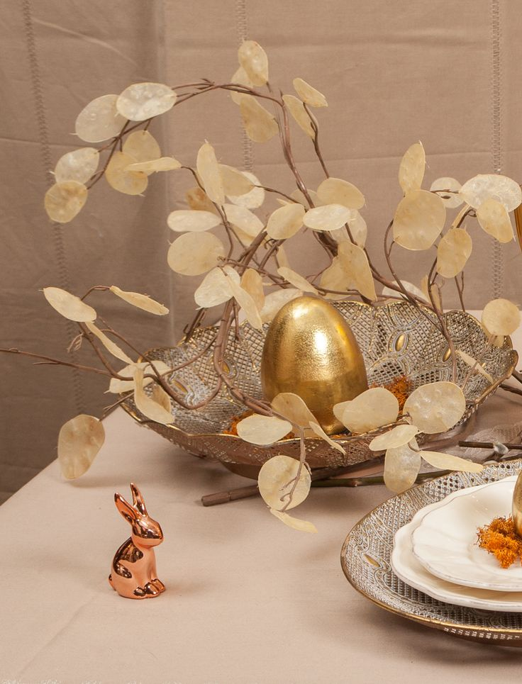Gold and Rose Gold Easter Decorations available NOW - Luxury Easter for Royalty