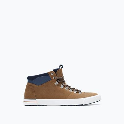 MOUNTAIN STYLE LEATHER HIGH-TOPS-Shoes-Man-SHOES & BAGS | ZARA Spain