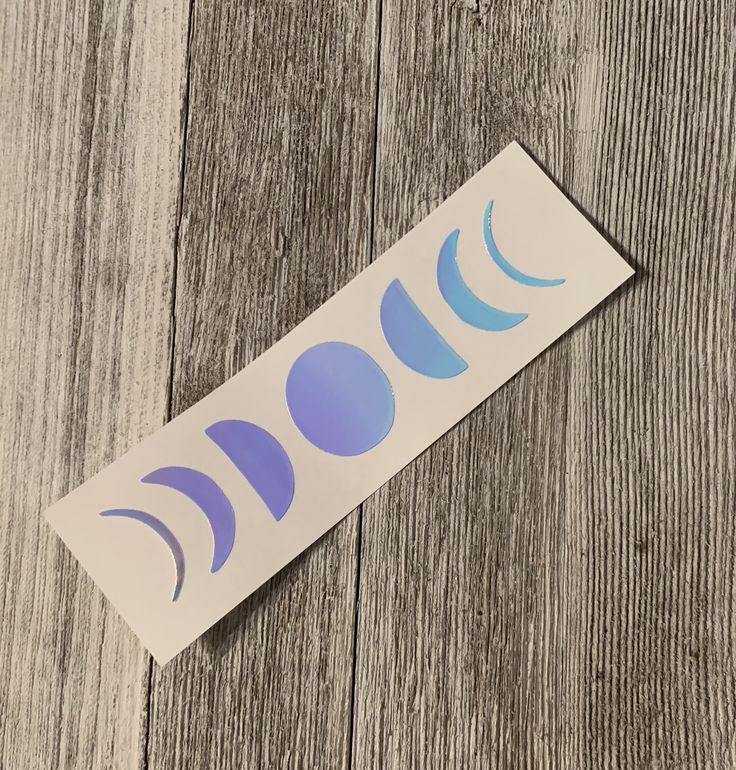 Holographic moon phases decal sticker yeti tumbler decal