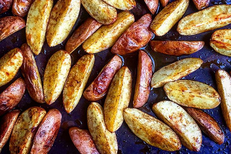 Recipe for cumin roasted potatoes at the bottom of the page