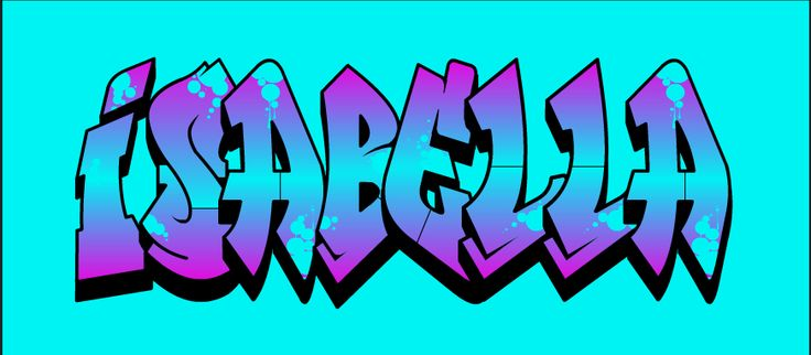 The Name Isabella In Bubble Letters