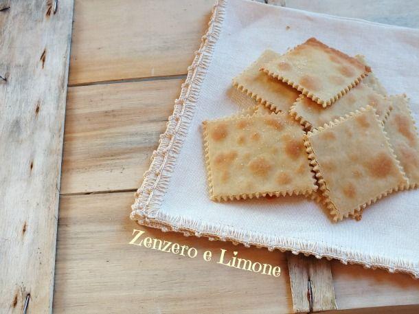 CRACKERS con FARINA di RISO | Zenzero e Limone