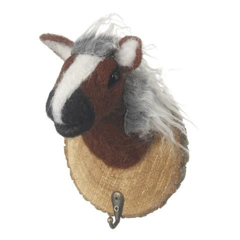 Wooly Horse Coat Hook