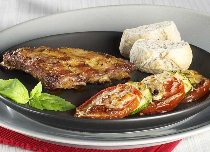 Ribbetjes uit de oven met groentegratin | Colruyt