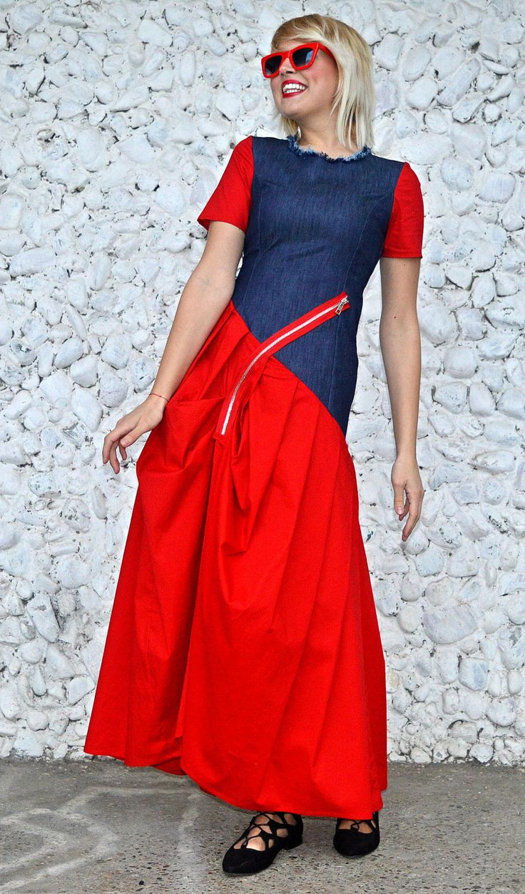 Just launched! Extravagant Red Denim Dress / Daring Red Dress / Denim Cotton Dress / Long Denim Dress / Red Maxi Dress TDK230 / URBAN MUSE https://www.etsy.com/listing/508578145/extravagant-red-denim-dress-daring-red?utm_campaign=crowdfire&utm_content=crowdfire&utm_medium=social&utm_source=pinterest