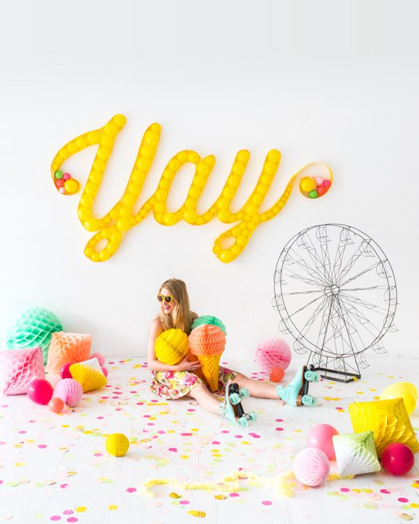 Balloon Marquee   Oh Happy Day!   Bloglovin'