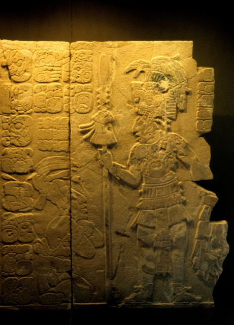 Stone carving from the ancient maya city of palenque in