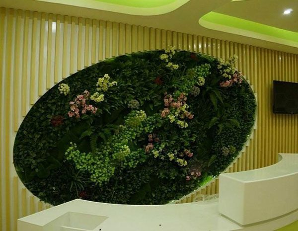 Artificial Plants Wall Art Mixture Of Various Fake To Form A Like Job
