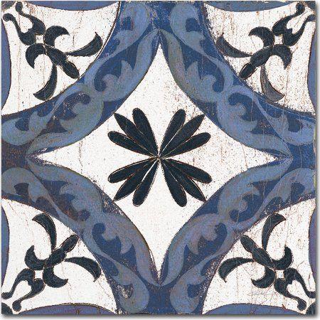Trademark Fine Art Downtown I Indigo and Cream Canvas Art by Silvia Vassileva, Blue