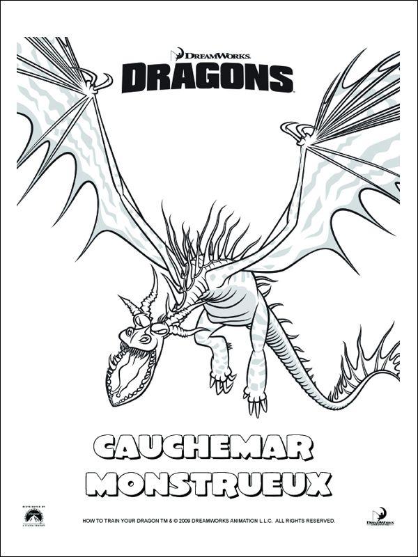 Coloriage Dragon Krokmou