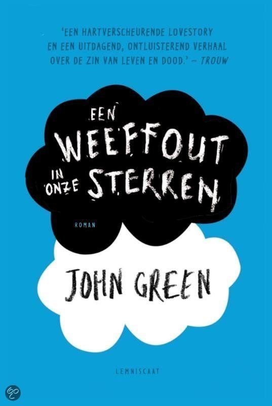 Dit is de cover van het boek 'Een weeffout in onze sterren'