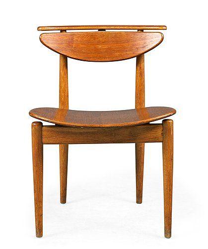 Finn Juhl teak and oak chair, Bovirke, Denmark 1950
